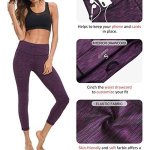 NWT purple cropped tights size Small S